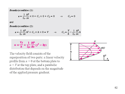 the velocity field consists of the superposition of two parts a linear velocity profile from