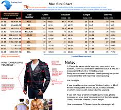 Leather Jacket Size Chart Cheap Online Clothing Stores Leather Jacket Size Chart