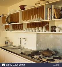 Wooden Plate Racks For Kitchens Plate Racks In Kitchen Stock Photos Plate Racks In Kitchen Stock