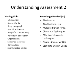 unit defining style part writing a style analysis essay  4 understanding assessment
