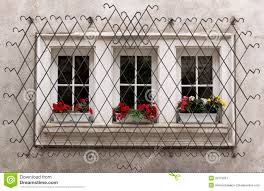 Decorative Security Grilles For Windows Window Iron Security Bars Stock Photos Images Pictures 591