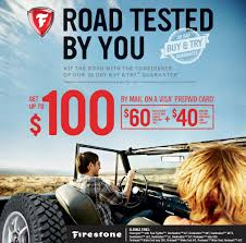 offer valid in the u s only void in puerto rico claim form required certain restrictions and limitations apply for eligible tires and plete details