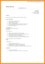 Welder Resume Examples Beauteous Resume Examples Simple Welder Resume Example 28 Welding Examples