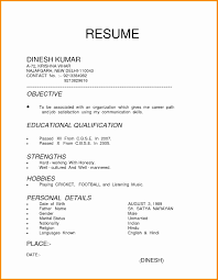 Cv For Curriculum Vitae Template Letter Sample Collection