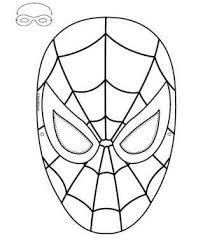 Maschera Spiderman Da Colorare Con Spider Man Maschera Da Colorare