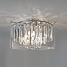 lamp led crystal glass droplets bathroom ceiling lights polished chrome finish with glass shades construction protection from spash