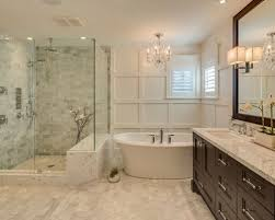white bathroom cabinets with granite. inspiration for a mid-sized timeless master gray tile and ceramic porcelain floor bathroom white cabinets with granite