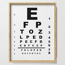 Eye Test Chart Serving Tray By Homestead