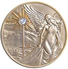 gold plated guardian angel medallion w sparkle goldangelmed jpg