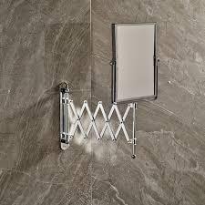 Wall mounted bathroom mirror Magnifying Mirror Chrome Framed Wall Mounted Bathroom Make Up Mirror Silver Extending Cosmetic Bathroom Mirror 1x 3x Magnification Ebay Buy Chrome Framed Wall Mounted Bathroom Make Up Mirror Silver