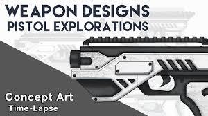 Design Pistol Learn How To Design Awesome Pistol Concepts Concept Art Weapon Design Digital Illustration