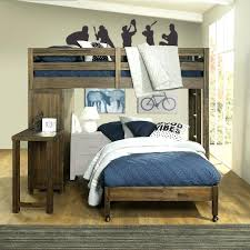 rustic brown twin loft bed with on casters st furniture bedding sets canada view