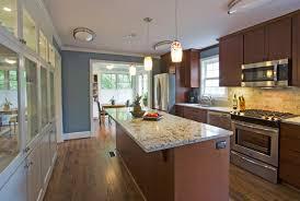 Kitchen Island Layout Nice Galley Kitchen With Island Layout Design 935