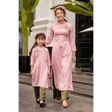 Áo dài mẹ và bé mặc Tết tốt giá rẻ