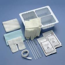trach care cardinal health tracheostomy care set with three compartment tray