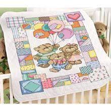Bucilla Lullaby Friends Crib Cover Stamped Cross Stitch Kit, 34 ... & Patchwork Teddies Baby Quilt Stamped Cross Stitch Kit - Herrschners Adamdwight.com