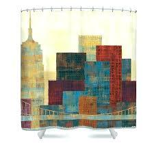 skyline shower curtain city