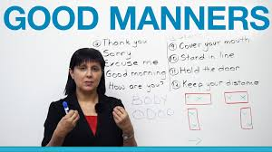 good manners what to say and do polite english
