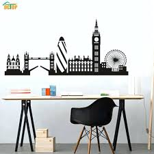 skyline wall decals city building skyline silhouette wall sticker big city building skyline silhouette wall sticker
