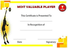 volleyball certificate template mvp certificate template combined with my certificate to frame