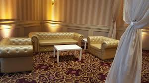 gold leather furniture