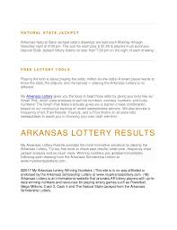 Mega Millions Frequency Chart Arkansas Lottery Winning Numbers