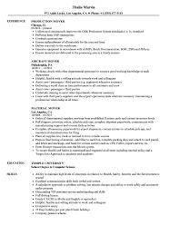 Mover Resume Sample Mover Resume Samples Velvet Jobs 1