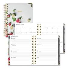 planners weekly monthly blueline romantic 2020 weekly monthly planner roses cover each redc3600201