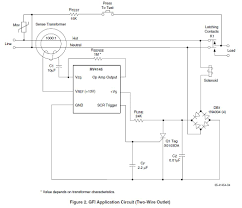 gfi ground fault interrupter wall wart gfi application note schematic