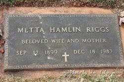 Metta Viola Hamlin Riggs (1899-1983) - Find A Grave Memorial