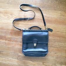 Coach Willis Black Leather Crossbody Bag vintage