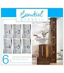 Diy Growth Chart Stencil 6ft Growth Chart Ruler Stencil Ideal For Painting On Wood