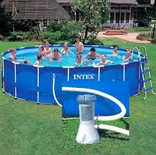 Каркасный бассейн <b>intex metal frame</b> pool 28242 (<b>457х122см</b>)