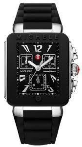 michele men watches best watchess 2017 mww06l000002 deco black dial rubber strap chrono men s watch