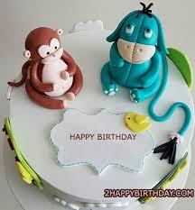 Monkey Birthday Cake With Name Editor 2happybirthday
