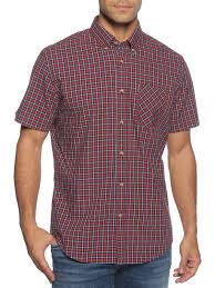 Ben Sherman Pop Check Shirt Red Blue Dress For Less Outlet