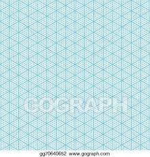 Vector Illustration Isometric Graph Paper Eps Clipart