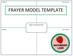 Frayer Model Math Template Frayer Model Example Magdalene Project Org