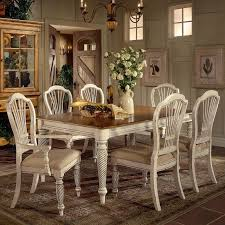Wilshire Round TwoTone Leaf Dining Table Rotmans Dining - Leaf dining room table
