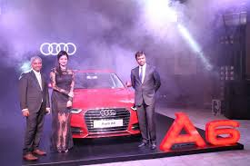 new car launches audiPooja Kumar Launched Brand New Audi A6 Matrix in Chennai  Photos