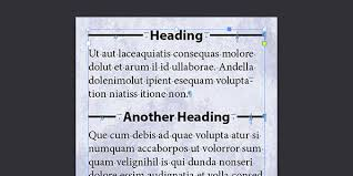 Put Lines To Left And Right Of A Heading Indesignsecrets Com