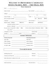 new patient forms medical office templates new patient welcome letter