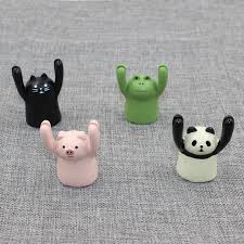 2018 new creative cute small animal ornaments desktop message folder business card holder photo clip cute