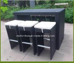 china elegant garden furniture synthetic rattan outdoor wicker bar table and chair china garden rattan table chair outdoor rattan table chair