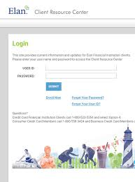 accessing elan credit card account from a mobile device