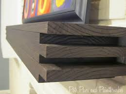 Modern Floating Mantel Shelf | Floating mantel, Mantel shelf and ...