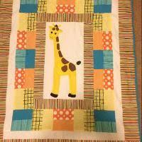 Quilting : Giraffe baby quilt | munk | Pinterest & Quilting : Giraffe baby quilt Adamdwight.com