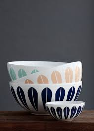 arne clausen s distinctive lotus pattern was first used on the norwegian cathrineholm enamelware and now decorates these danish lyngby porcelain pany