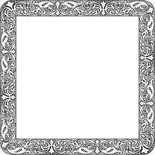 square black frame png. Png Black And White Library Fancy Vintage Big Image Square Frame