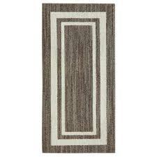 border loop dark khaki spice cream 2 ft x 3 ft area rug